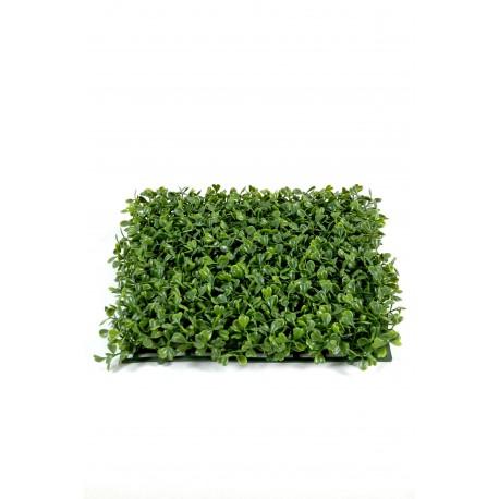 Plaque de Buis New artificiel 25,5 cm x 25,5 cm pour extérieur