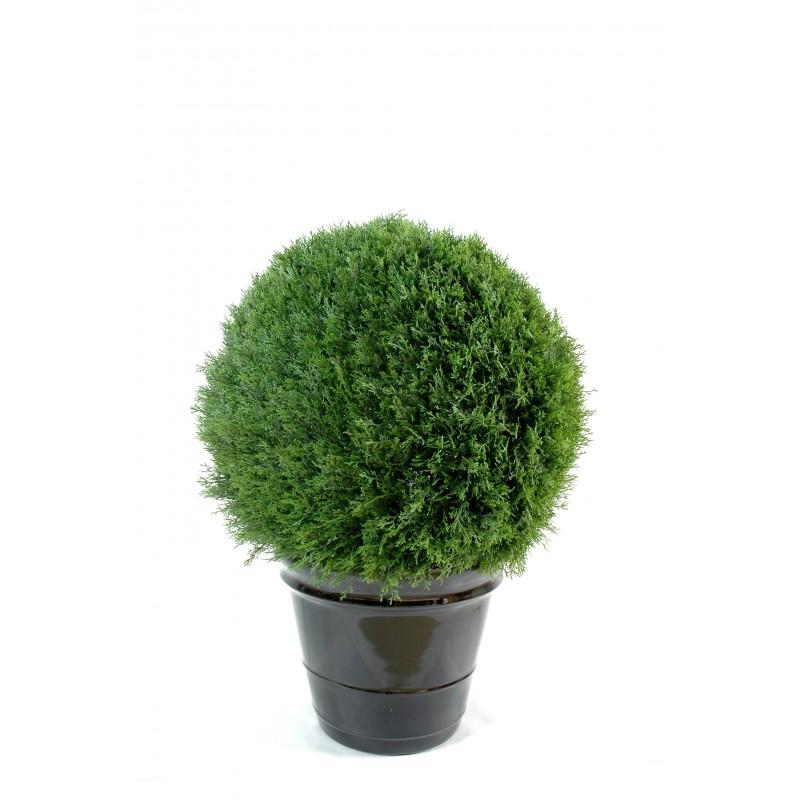 Cypr s artificiel mini boule new pour ext rieur 3 dimensions for Plantes artificielles pour exterieur