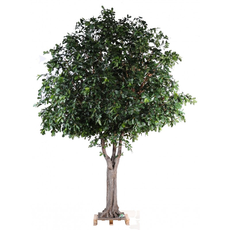 Ch ne arbre artificiel de 3m50 de hauteur et 3m d 39 envergure for Arbres artificiels interieur