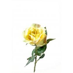 Rose Joey artificielle en tige de 66 cm de hauteur Crème