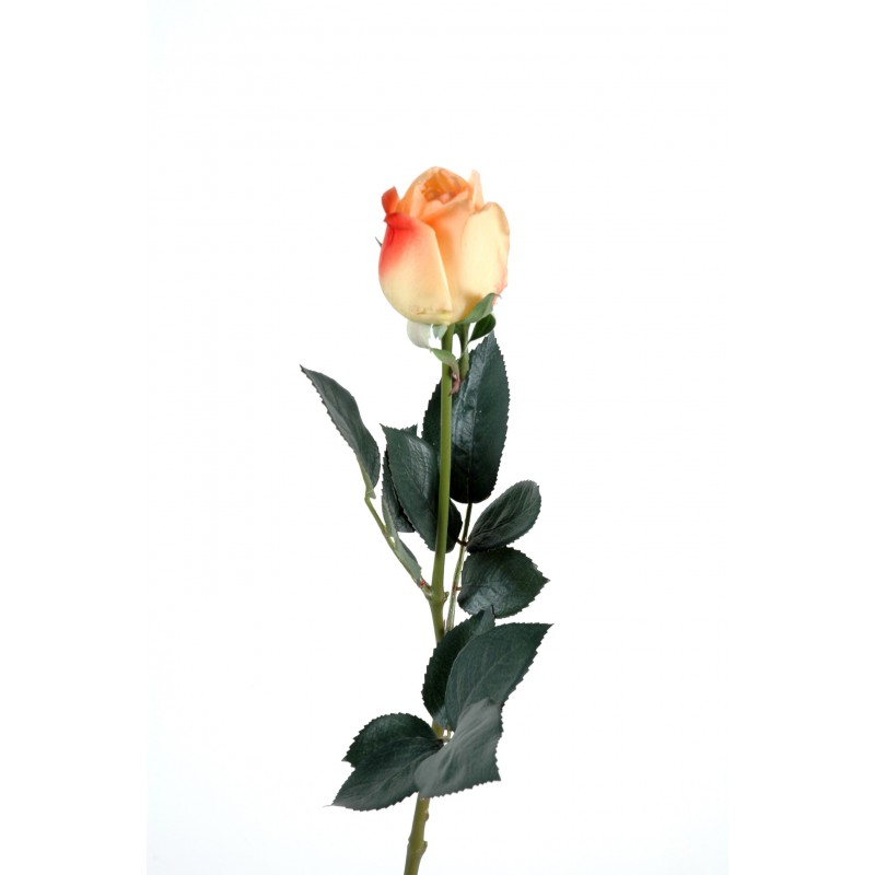 Rose artificielle bouton lisa natural touch tige 60 cm for Rose artificielle