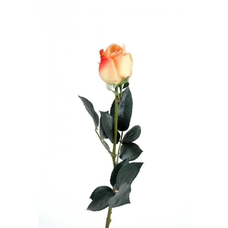 Rose artificielle bouton lisa natural touch tige 60 cm - Rose avec tige ...