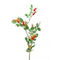 Branche Eglantier fruit artificiel 70 cm de hauteur