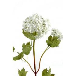 Vibernum artificiel appelé aussi Boule de neige blanc de 70 cm de hauteur