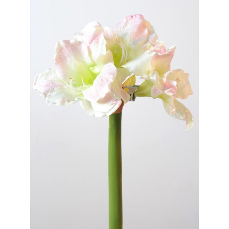 Amaryllis artificiel 70 cm de hauteur compos e de 3 fleurs for Amaryllis exterieur
