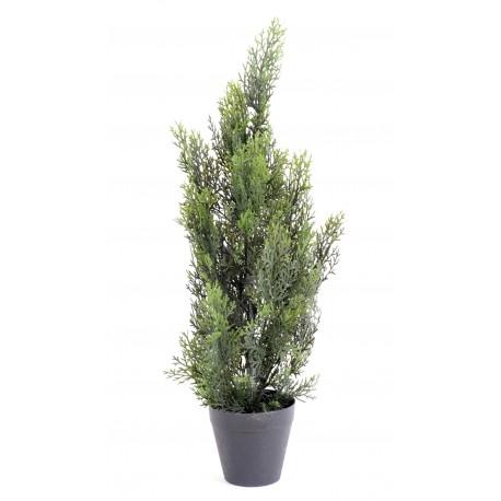 Cypr s artificiel mini new 60 cm de haut en plastique pour for Plantes artificielles pour exterieur