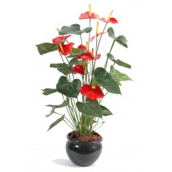 Anthurium artificiel *9 en pot