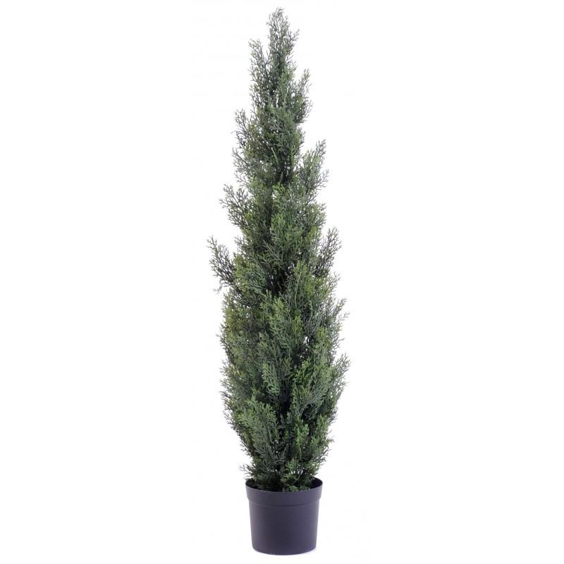 Cypr s artificiel new de 125 cm de hauteur pour ext rieur for Plantes artificielles pour exterieur