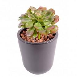 Succulent artificiel en piquet de 19 cm de hauteur et 15 cm de diamètre