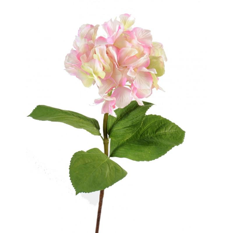 Hortensia artificiel tige 80 cm fleur en tergal de 18 cm - Quand couper les fleurs fanees des hortensias ...