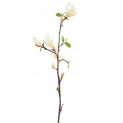 Magnolia artificiel en tige de 83 cm de hauteur composé de fleurs blanches