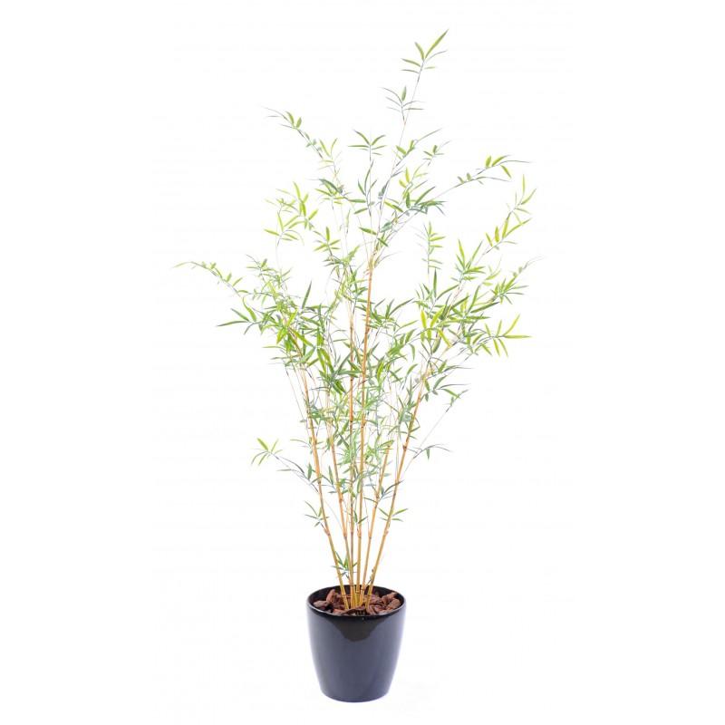 Bambou fine natural plast artificiel 6 cannes en pvc pour for Bambous artificiels pour exterieur