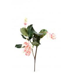 Tubrose XL (Medinilla) artificielle en tige de 90 cm de hauteur composée de fleur en tergal rose clair