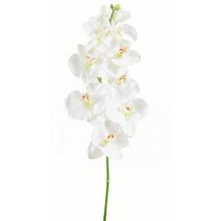 Tige d'orchidée Phalaenopsis Large artificiel mesurant 110 cm Blanc