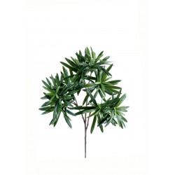 Branche de Podocarpus Spray artificiel de 35 cm de hauteur et 20 cm de largeur