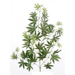 Branche d'Aralia New Spray artificiel mesurant 70 cm de hauteur et 25 cm de largeur