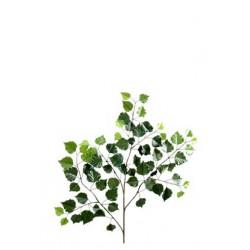 Branche de Bouleau New artificiel de 70 cm de hauteur et 35 cm d'envergure en tergal vert