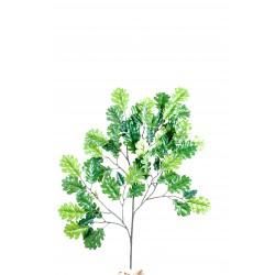 Branche de Chêne Mini Spray artificiel de 60 cm de hauteur, avec un feuillage en tergal