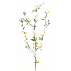 Tige de cerisier en fleurs blanches 50 cm de hauteur et 20 cm de largeur