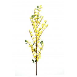 Branche de Forsythia artificiel de 76 cm de hauteur avec fleurs jaunes en tergal