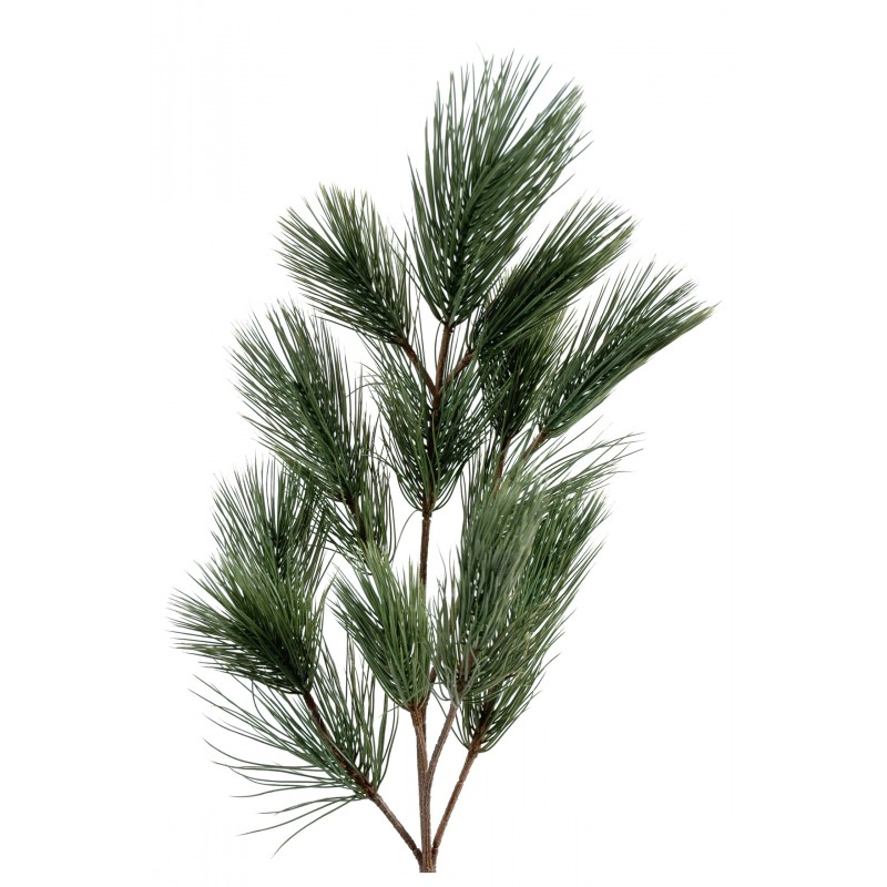 Branche de pin spray artificiel de 64 cm de hauteur en plastique - Branche de sapin artificiel ...
