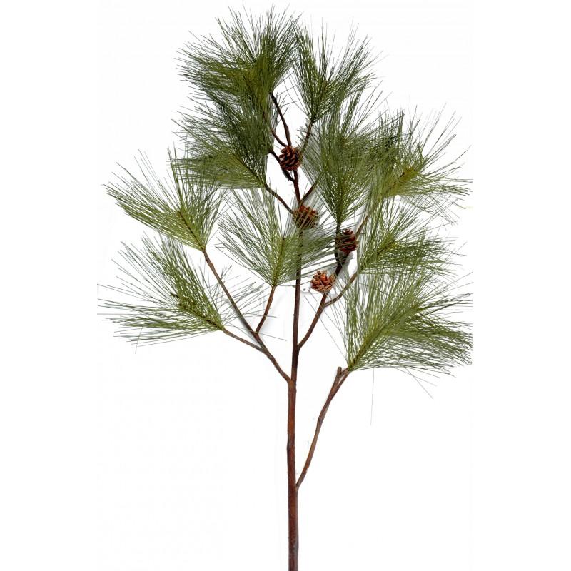 Branche de pin artificiel de 160 cm de hauteur avec pommes for Branche bambou artificiel