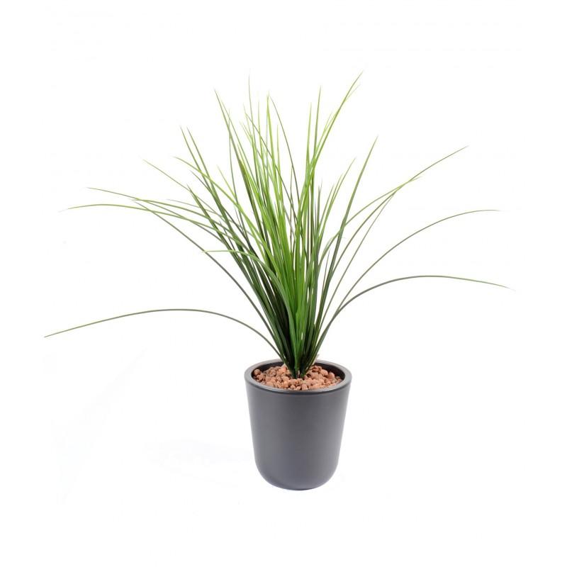Herbe onion grass plast artificielle de 55 cm de haut pour for Plante artificielle pour exterieur