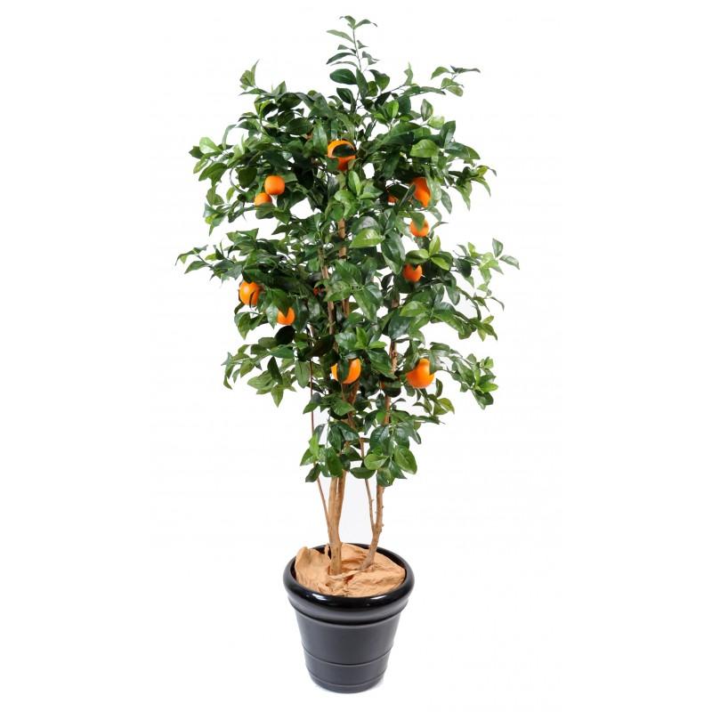 oranger new artificiel avec fausses oranges - Arbuste Artificiel Exterieur Pas Cher