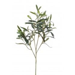 Branche d'Olivier New Spray artificiel sans olive avec feuillage en tergal
