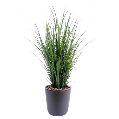 herbe fine artificielle en pot de 60 cm de hauteur. Black Bedroom Furniture Sets. Home Design Ideas