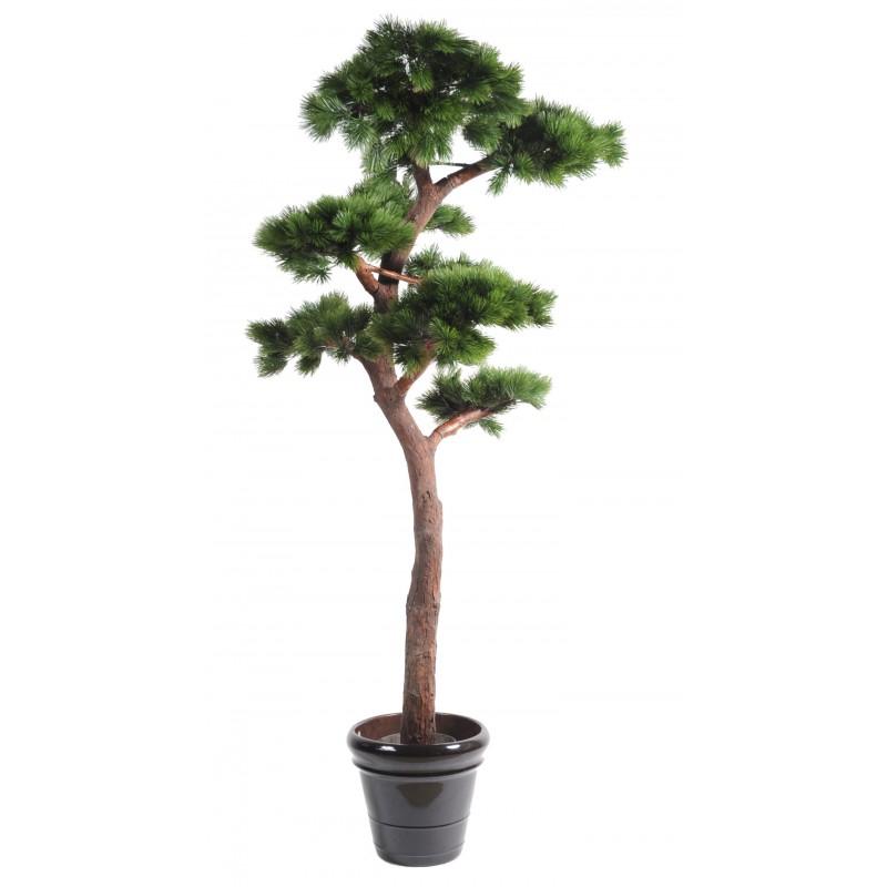 Pin artificiel bonsai uv r sistant de 220 cm de hauteur en for Arbre en pot exterieur