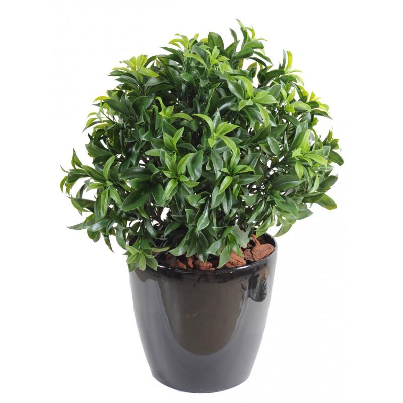 Laurier artificiel plast buisson pour ext rieur 3 hauteurs for Plantes artificielles pour exterieur