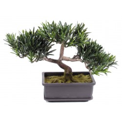 Bonsai artificiel Podocarpus Mini 22 cm