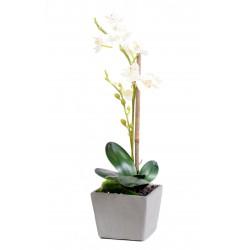 Orchidée phalaenopsis artificiel en pot d'une hauteur de 37 cm