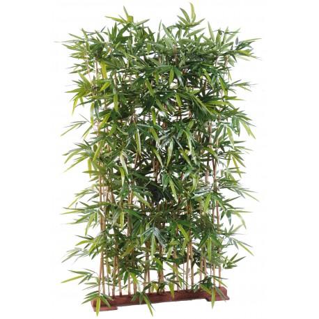 Bambou new haie artificiel de 150 cm sur socle de 75 cm