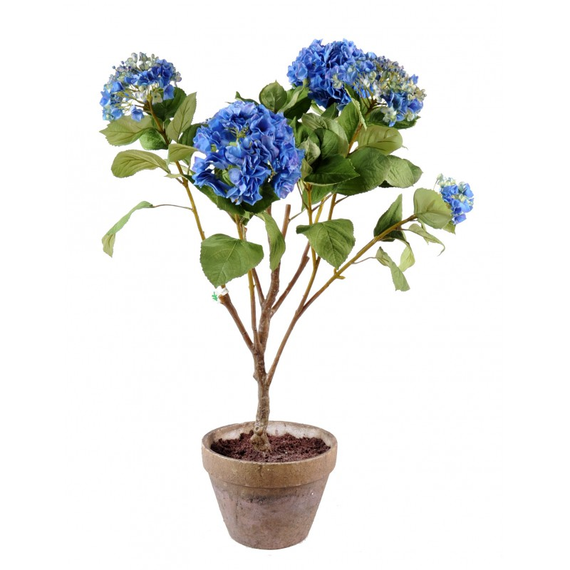 hortensia artificiel bleu 105 cm de haut 75 cm large pot. Black Bedroom Furniture Sets. Home Design Ideas