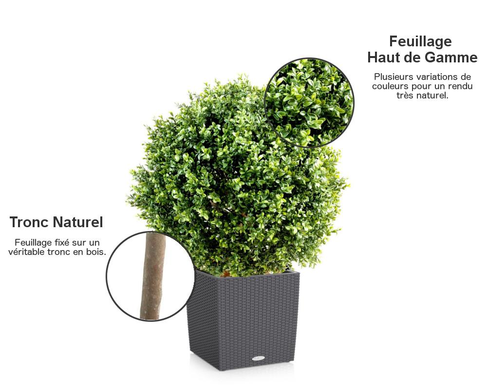 boule de buis artificiel. Black Bedroom Furniture Sets. Home Design Ideas